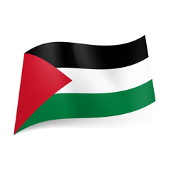 State flag of Palestine.