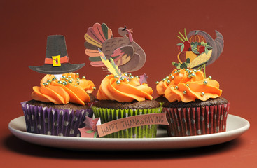 Happy Thanksgiving cupcakes