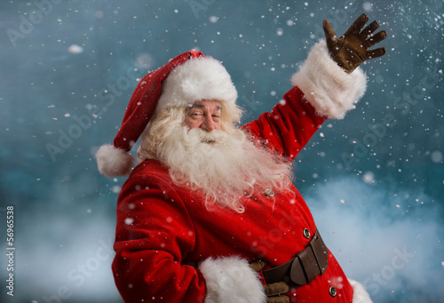 Happy Santa Claus laughing
