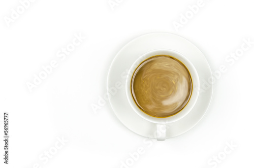 espresso coffee on white background