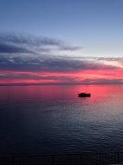 tramonto al mare