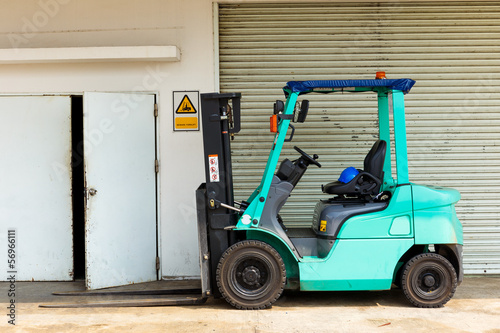 forklift truck in a factory
