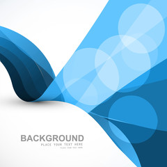 Abstract blue business colorful wave vector design