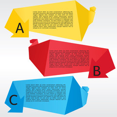 Vibrant Polygon Origami Banners Vector.EPS 10