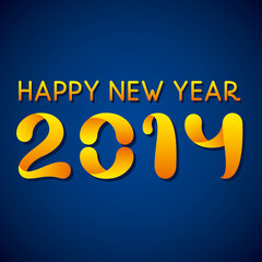 creative happy new year 2014 background vector