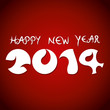 happy new year 2014 background vector