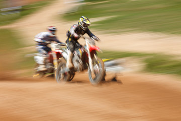 Off-rod motorbike riding fun