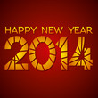 creative happy new year 2014 background vector