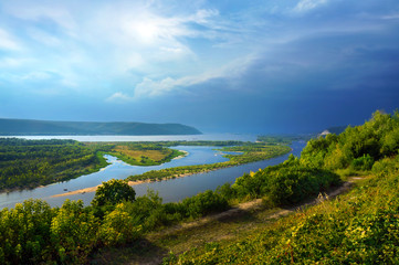 The river Volga, the city of Samara