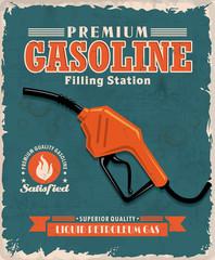 Vintage gasoline poster design