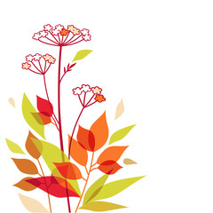 Autumn vector bouquet