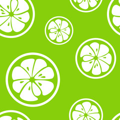 Abstract citrus fruit seamless pattern. Vector