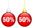"""Christmas Balls Sale """"50%"""" Red"""