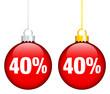 """Christmas Balls Sale """"40%"""" Red"""