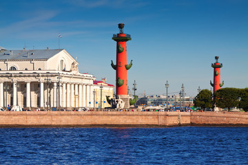 View of St. Petersburg. Rostral columns