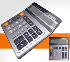 Business calculator. Vector.