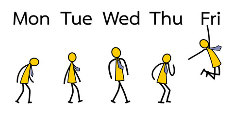 Emotion of worker from Monday to Friday