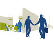 Geschäftsleute, Partner, Business / Silhouette