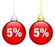 """Christmas Balls Sale """"5%"""" Red"""
