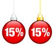 """Christmas Balls Sale """"15%"""" Red"""