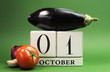 Save the date calendar for World Vegetarian Day