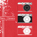 Old retro camera set