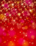 christmas red background with brilliance stars poster