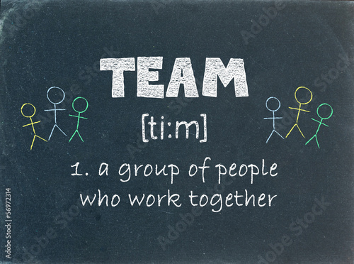 """TEAM"" - Definition on Blackboard (business project management)"