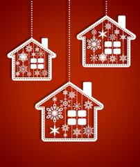 Christmas toy houses