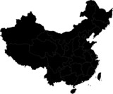 Black China map