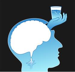 Gehirn braucht Wasser