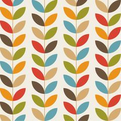 Retro flower pattern seamless background