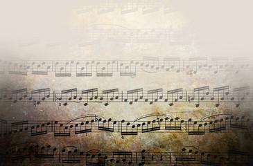 Grunge texture - musical scores