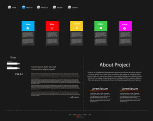 Business modern website template