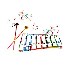 Abstract music background with xylophone