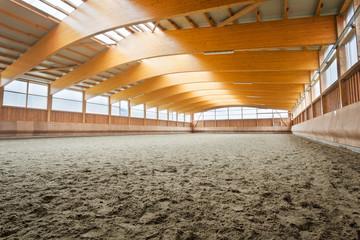Empty indoor riding hall