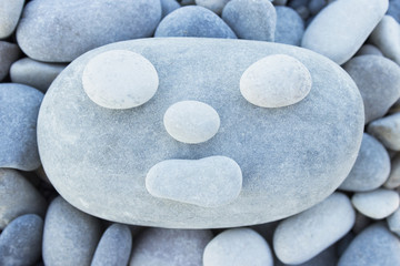 Funny face (pebbles, stones)