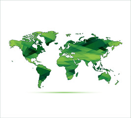 planisphère vert