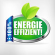 Energieeffizient! Button, Icon