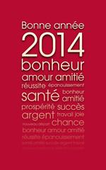 Carte de vœux 2014 rouge