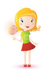 Cute Girl with Lollypop