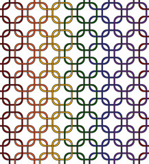 Gay Pride Color Interlaced Squares Textured Fabric Background