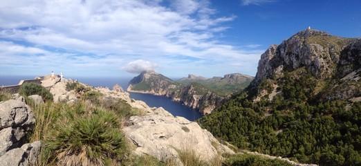 Mallorca sea view and mountains