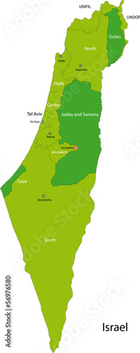 Green Israel map