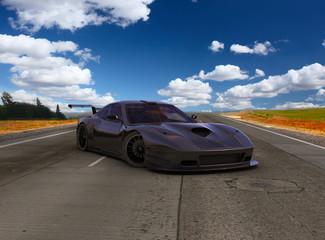 Prototype on asphalt