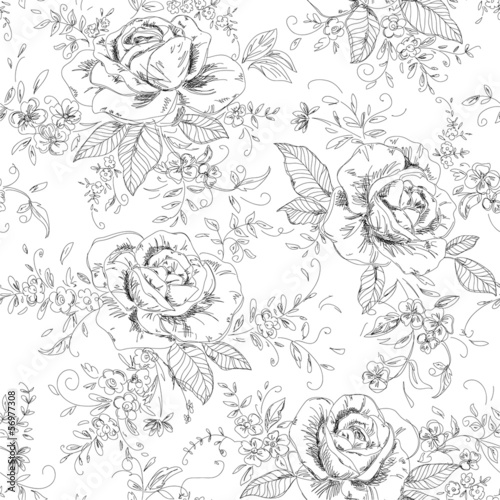 abstract floral background - 56977308