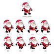 Santa Claus walking frames.