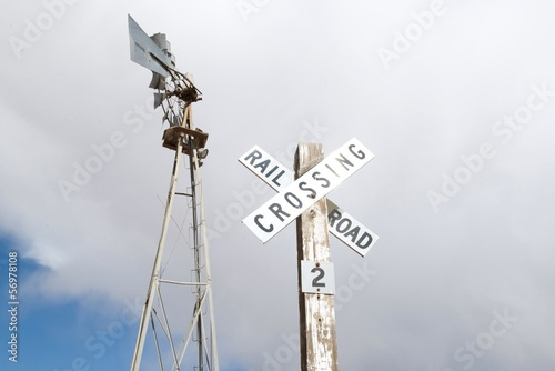 canvas print picture Rail Road Crossing