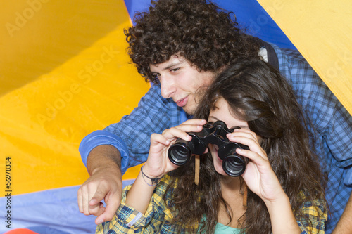 Young Couple at camping