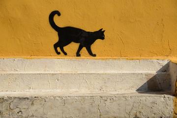 murales - gatto